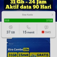 XL Combo 4G kuota 25 Gb / 24 jam / 90 hari, Kartu Perdana Internet