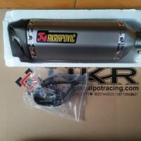 Knalpot Racing Akrapovic Hexagonal Import CBR250RR,Ninja250FI,ER6,R25