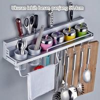 Rak Dinding gantung Rak Dapur tempat bumbu kitchen set besi Aluminium