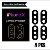 A31375 Original! iPhone X Skin Cover Black Mate Camera Protector 4 Pcs