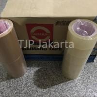 Lakban OPP Daimaru 2 inch / 48mm x 90 yard bening dan coklat
