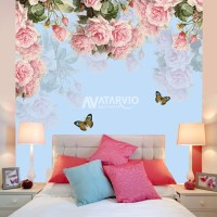 Wallpaper Custom Tema Shabby Chic