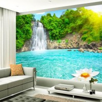 Wallpaper Custom Printing - Wallpaper Custom Tema Waterfall