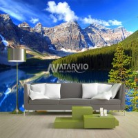 Wallpaper Custom Murah - Wallpaper Dinding Gambar Bukit 3D
