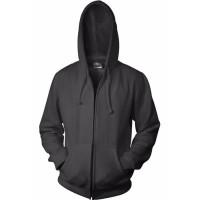 Jaket Hoodie Zipper Hitam Polos Ukuran M - XL