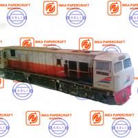 miniatur papercraft lokomotif CC 206