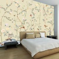 Wallpaper Dinding Floral Custom
