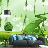 Wallpaper Dinding Motif Nature Custom