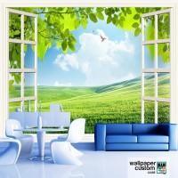 Wallpaper Dinding 3D Nature Custom