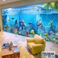 Wallpaper Custom Motif Underwater 3D