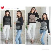 Plaid Zara Top Blouse Muslim Murah Atasan Wanita Baju Kerja Hijabers