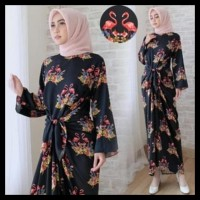 (Big Sale!!!) Gamis Kaftan Ikat Angsa Black (Mg) !!