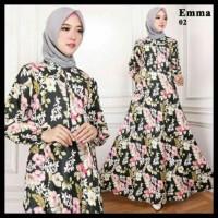(Murah!!) Maxi Emma (02) Baju Muslim Wanita Gamis Model Kekinian