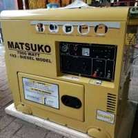 Promo Genset silent Diesel 7000 watt 1 phase murah berkualitas KUALI