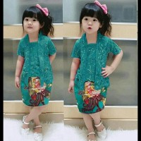 (Promo!!) Set Kutubaru Cacha Tosca /Baju Setelan Batik Anak Perempuan