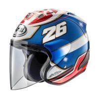 Arai SZ-RAM 5 Pedrosa Samurai Helm Half Face - Graphic White Blue