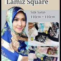 (Sale!!) Hijab Kerudung Jilbab Segi Empat Satin Silk Premium Lamiz