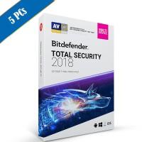 Bitdefender Total Security 2018 5PC - 1 Tahun