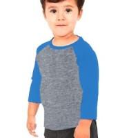 Kaos raglan anak warna abu abu misty biru muda premium distro