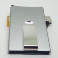 Dompet Aluminium Elegan anti scan RFID model Flick-Out - GREY GORES