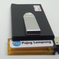 Dompet Aluminium Elegan anti scan RFID model Flick-Out - HITAM GORES