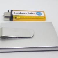 Dompet Aluminium Elegan anti scan RFID model Flick-Out - SILVER