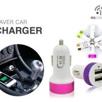 SAVER CAR CHARGER MOBIL - 888 2 USB PORT