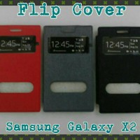 Flip Cover Samsung Galaxy X2/Leather Case/Sarung Hp