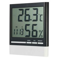 Jam Alarm LED Weather Station Thermometer - CX-318 - White
