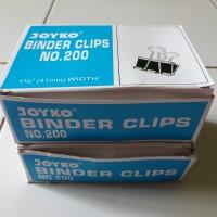 Binder Clip Joyko 200 (1 kotak besar isi 12 pcs)