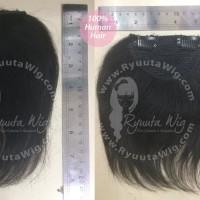 PONI HUMAN HAIR EXTENSION CLIP poni sambung rambut asli