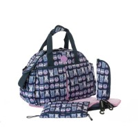 Okiedog Freckles Travel Bag Owl Blue/Pink Tas Bayi