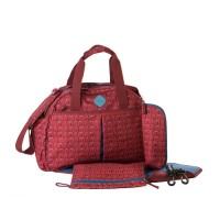 Okiedog Freckles Travel Bag Triangle Dot Red Tas Bayi