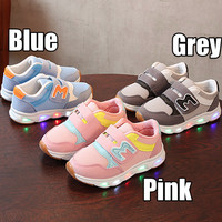 (22-31)Sepatu Olahraga / Sneakers / Kets Anak TK Lampu / LED M Candy