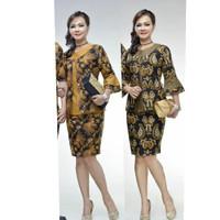 Rok&Blus Haneda coklat dan hijau | Pabrik Baju Batik atasan wanita