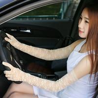Sarung tangan Pengantin panjang 55 cm warna beige