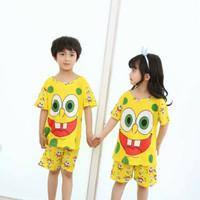 st pendek baju tidur couple anak spongebob