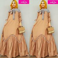 Dress Wanita Muslimah Gamis Baju Wanita berhijab Maxi Dress Long Tunik