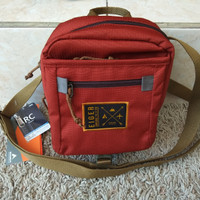TAS SELEMPANG ORIGINAL EIGER 7391 RED BROWN SIZE 7 INCH KECIL