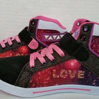 Sepatu Sekolah Anak Finotti Zarra II (Hitam/Fuxia)