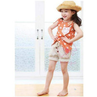 Girl Set-Orange Polka (atasan dan bawahan)