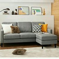 sofa L ruang keluarga (furniture, meja, depan, nakas, bufet, kursi)