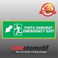 Sticker Safety Sign K3 Tanda Arah Pintu Darurat / Emergency Exit