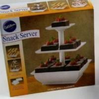 Sale! Snack Server Etalase Kue 3 Tingkat Stand Saji Rack Rak Cup Cake