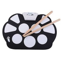 drum elektrik - Roll Up Drum Kit Portable 9 Pad.