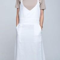 Baju Setelan Top & Dress White Spring Casual Set (L) Import Original
