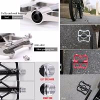 Harga promo ngabisin stok flat pedal sepeda carbon 3 | Pembandingharga.com