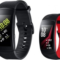 SAMSUNG GEAR FIT 2 PRO GARANSI RESMI - BLACK RED (SMALL/LARGE)
