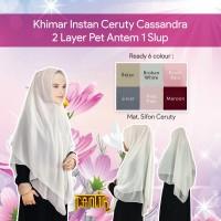 Khimar (Jilbab Instan) Pet Antem Ceruty Putih