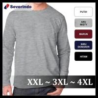 (Harga Khusus) Baju Kaos Polos Lengan Panjang 3Xl 4Xl Xxxl Big Size